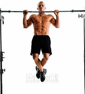 Упражнение 1 – Подтягивания широким хватом
